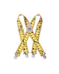 CLC Tape Measure Design Suspender Braces - CLC110RUL