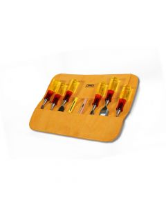 DWG Leather 12 Pocket Chisel Tool Roll - DWGTR20001
