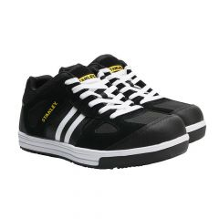 Stanley Cody Black/White Stripe Safety Trainers - STA20051-110